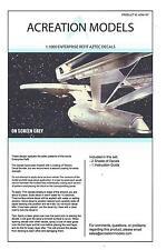 Acreation Models Star Trek USS Enterprise Refit Aztec Decals 1/1000 ACM 107 ST