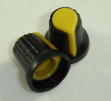 2X Potentiometer knob yellow 6mm boton potenciómetro amarillo