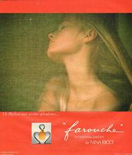 """Publicité Advertising 1975  Parfum  """"Farouche"""" de NINA RICCI"""