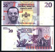 SWAZILAND 20 Emalangeni 2014 UNC P 37 b