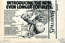 1977 Print Ad of Spalding Top-Flite Golf Ball