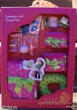"Our Generation 18"" Doll Luggage and Travel Accessory Set Suitcase ~ NEW SEALED"