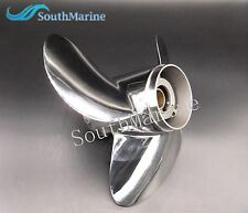 Stainless Steel Propeller 11 1/8x14-F for Yamaha Tohatsu Honda Suzuki 40hp 50hp