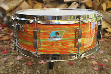 "Vintage 1976 Ludwig Citrus mod snare drum. 5"" x 14"""