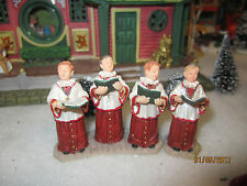 "TRAIN VILLAGE CARNIVAL HOUSE "" ALTAR/CHOIR BOYS 2 pc SET  "" + DEPT 56/LEMAX info"