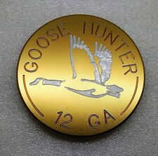 """Goose Hunter, Billet Aluminum Hitch Cover Plug,Gold Anodized,4"""" Round"""