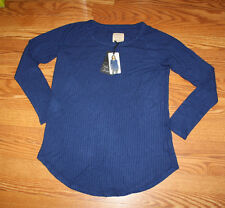 NWT Womens CHASER Sapphire Blue Pullover Long Sleeve Light Weight Sweater L