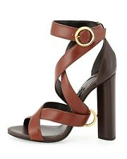 Tom Ford Two Tone Brown Wrap Around Sandal Ring $1290 37.5 7.5