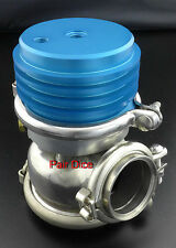 60MM Wastegate Turbo Stainless Steel Dump Valve Adj 14 TO 19 PSI Anodized Blue