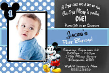 Mickey Mouse Birthday Party Invitations with FREE Thank You Card
