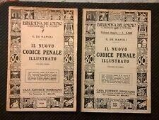 IL CODICE PENALE ILLUSTRATO DE NAPOLI 2 VOLUMI 1934 DIRITTO GIURISPRUDENZA