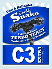 Double Snake C3 Fast & Reliable Turbo Yeast C-3 EXTRA Dual FREE  DELIVERY