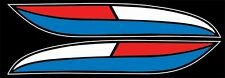 1972 XLH XLCH Harley Davidson LARGE RED WHITE BLUE Tank Sportster decal w/logo's