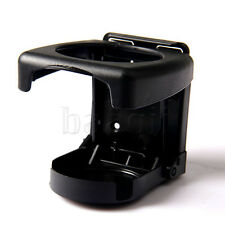 Black Plastic Folding Car Truck Drink Cup Can Bottle Holder Stand MA