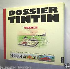 DOSSIER TINTIN L'ILE NOIRE HERGE (Planche Tintin article Le petit vingtième etc)