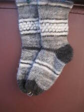 Men's SOCKS HUNTING Knitted RUSSIAN 100% pure natural SHEEP WOOL FLEECE craft