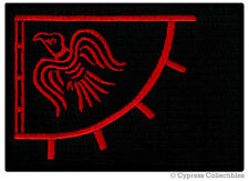 RED-BLACK NORWAY VIKING RAVEN BANNER embroidered iron-on PATCH LEIF ERICSON FLAG