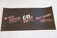 1973 Bus Drivers Interior Poster London Transport Routemaster