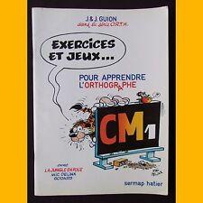 EXERCICES ET JEUX… POUR APPRENDRE L'ORTHOGRAPHE avec LA JUNGLE EN FOLIE CM1 1980