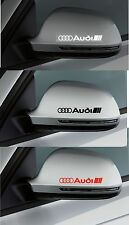 For AUDI - 2 x Wing Mirror -  CAR DECAL STICKER ADHESIVE A3 A4 TT- 100mm long