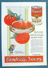 Original 1927 Campbell's Tomato Soup Ad WITH THE MEAL ... OR AS A MEAL