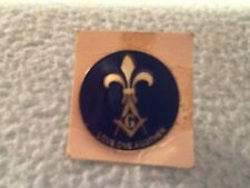 Vintage Girl Scout Pin Love One Another Blue Enamel silver tone Pin