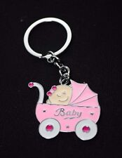 12-Baby Shower Girl Party Favors Keychains Favor Pink Recuerdos De Nina Llaveros