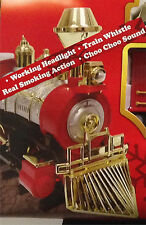 New Christmas Tree-SANTA's JUMBO EXPRESS SMOKING TRAIN SET-Choo-Choo Light Sound