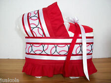 BASEBALL SPORTS BOY DIAPER BASSINET BABY SHOWER CENTERPIECE TABLE DECORATION NEW