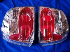 1993-1999 Volkswagen Golf Jetta Clear & Chrome Tail Lamp Light Set SONAR