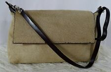 ABRO Tashe Orient Fawn Handbag w Flap Made In Italy Leather Fur Cowhide Hand Bag
