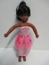 BARBIE Puppe Tutti schwarz mit rosa Kleid 60er Jahre MATTEL 16 cm
