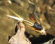GILCHRIST FLIEGEN. 3 Stück Wired Golden Stonefly ( Steinfliege).  Hakengröße 10