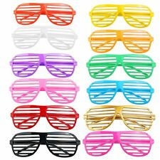 12 Pairs Shutter Shades Glasses Sunglasses Party Photo Props Plastic, UK SELLER