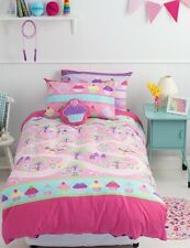 Cupcakes Enchanted Forest Girls Reversible SINGLE Size Quilt Doona Cover Set