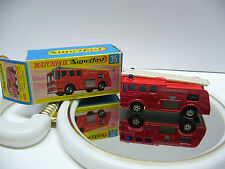 Matchbox  Superfast  MB 35 Merry Weather Fire Engine- rot   - Made in England