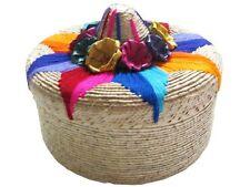 "Tortillero Tortilla Warmer Straw Basket Pancake 8"" Mexico Kitchen Tradition Gift"