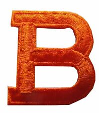 "1-3/4"" Orange Letter ""B"" Embroidery Iron On Applique Patch"