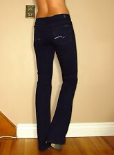 Seven 7 For All Mankind $198 Bootcut Dark Jeans Purple Crystal Pkt Mid-Rise 25