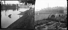 CHINON c. 1920 - 14 Stéréos Verre Indre et Loire - 180