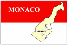 MONACO MAP & FLAG - SOUVENIR NOVELTY FRIDGE MAGNET - BRAND NEW - GIFT