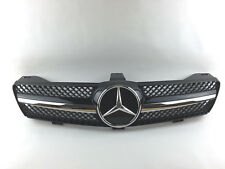 W219 Mercedes CLS Class 06-08 1 Fin Front Hood Sport Black Chrome Grill NEW