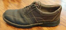 Clarks Sektor 4EYE mens brown leather lace up oxford shoes size 10 M