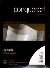 50 x CONNISSEUR SMOOTH LAID WHITE A4 PAPER 100gsm wh