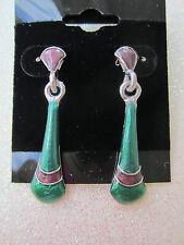 80's Metal Pierced Earrings