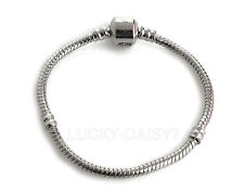 Wholesale Fashion Silver Snake Chain Bracelet Fit European Charm Beads 16cm