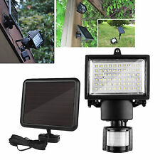Outdoor Solar Power Motion Sensor Garden Floodlight 60 LED PIR Security Light LW