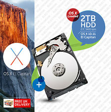Macbook Pro, Mac mini :: 2TB (2000GB) 2.5 inch:: HDD (HARD DRIVE) OS X Loaded