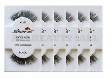 Amor Us 100% Human Hair False Eyelashes #217 (pack of 6pairs) compare Red Cherry