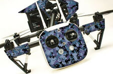 DJI Inspire 1 graphic skins w/6 Batteries Transmitter Decals | Digi Camo Blue